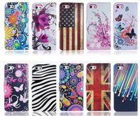 Wholesale Iph Covers - Fashion Flower UK US Flag Zebra Wallet PU Flip Leather Case Cover With Card Slots Stand Holder For Samsung Galaxy and for iphone6 6s and iph