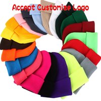 Wholesale fitted blank caps - Multi Colors Hedging Cap Acrylic Fibres Wool Knitted Blank Hats Elastic Men And Women Hip Hop Beanie Gift 3 3cy B