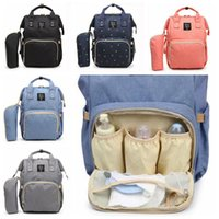 Wholesale Diaper Bag Fabric - 5 Colors Multifunctional Baby Diaper Backpack Mommy Changing Bag Mummy Backpack Nappy Mother Maternity Backpacks CCA7872 20pcs