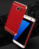 Wholesale hard snap case - For Galaxy S8 Plus Electroplating Slim Hybrid Luxury Armor Snap on Hard Phone Back Case Cover for Samsung S7 edge SCA278