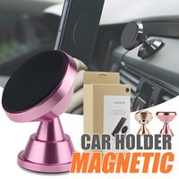 Wholesale Purple Head Phones - Premium Metal Alloy Magnetic car mount holder 360 Rotation Swivel Head Cell Phone Stand Holders for Car Mounting Bracket for iPhone 8 x