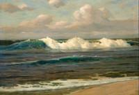 pintura de óleo do oceano venda por atacado-Uma paisagem expansiva com as ondas do oceano perfeito pintado à mão / HD impressão pintura a óleo Seascape Art On Canvas multi tamanhos personalizados
