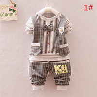 Wholesale Long Sleeved White Tutu - 2015 autumn new baby boy young children long-sleeved pants clothing suit two pieces a set A080545