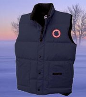 Wholesale Canada Buttons - 2017 winter down vest Canada warm cold wind waterproof outdoor men's down vest Sleeveless coat keep warm down waistcoat