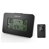 Compra Temperatura Dell'umidità Dell'orologio-Moda Baldr Weather Station Orologio Indoor Indoor Temperature Display Umidità Display meteo wireless Allarme Snooze Blue Backlight