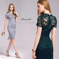 Wholesale Sexy Cheongsam Skirts - 2016 new women's skirt package hip Slim lace dress sexy halter dress cheongsam style