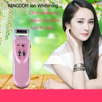 Wholesale Galvanic Machines - Microcurrent Galvanic Spa face firming device Anti Aging Home Beauty Instrument Ion face massager face cleansing machine