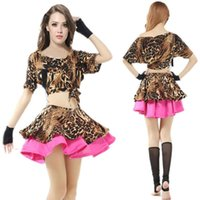 Wholesale Tribal Dance Set Costume - New Leopard Grain Women Belly Dance Costume Set Bellydance Skirt Tribal Indian Dress Belly Dancing Clothes Bellydance Costume