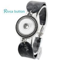 Wholesale European Magnetic Bracelet - Wholesale-P00704 Hot wholesale Snap Button Bracelet For Women Newest Design Fashion Magnetic Charm Bangles 18mm Rivca Snap Button Jewelry