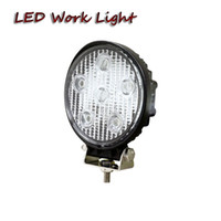 Wholesale Agriculture Led Lighting - free shipping 4x4 18W round led work light for farm agriculture truck trailer tractor harvester forestry machine Boating forklift lamp