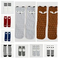 Wholesale Cheap Brand Socks - Kids Sock Cheap Baby Boy Girl Fox Christmas Cotton Knee High Socks Children Middle Socks Footwear Baby Leg Warmers Legging Socks 511
