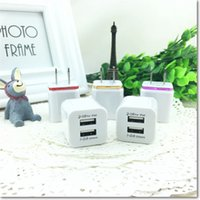 Wholesale Dual Ipad Dock - metal dual USB AC adapter 2.1A dual ports home wall charging charger with EU US plug for ipad iphone 4 5 6 sumsung note 4 5 HTC blackberry