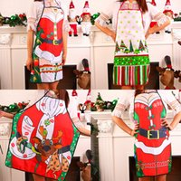 Wholesale Men Kitchen Apron - Christmas Funny Cooking Kitchen Apron Sexy Dinner Party Baking Apron delantal cocina For Woman Man delantales BBQ Party Cartoon Apron 170928