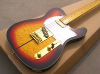 Wholesale Mahogany Guitar Tele - Top Selling Custom Shop Telecaster Guitar Merle Haggard Signature Tuff Dog Tele Sunburst Electric Guitar Gold Hardware,Flame Maple Top
