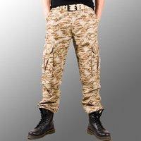 Wholesale Buy Loose Pants - Wholesale-Group-buying!!!! 2016 Hot Selling brand 4 color Men's fashion camouflage camo pants size 28-38