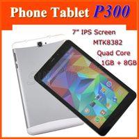 "Wholesale Tablet Gps Sim Free Gsm - P300 Dual SIM Phablet 3G GSM WCDMA Phablet 7"" Android 4.4 Quad Core MTK8382 RAM 1GB ROM 8GB 1280*800 Phone Tablet Free Shipping"