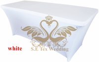 Wholesale Spandex White Table Covers - White Color Lycra Spandex Table Cover \ Table Cloth For Wedding
