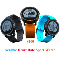 Wholesale Heart Monitors For Women - Wholesale- 2017 Newest S200 Smart Watch Aerobic Sport Watch Men Women Heart Rate Monitor Call SMS Reminder for IOS Android Waterproof IP67