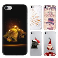 Wholesale Iphone Snowman - New Arrival Case for iPhone 5 6S 7 8 Plus Merry Christmas Sofe TPU Mobile Shell Snowman Elk Pattern Cell Phone Cover