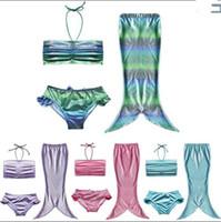 Wholesale Princess Swim Wear - Girls Childrens Mermaid Swimwear Clothing Beach Swimsuit Girl Kids Princess Swimming Trunks Bathing Suit Beach Wear Enfant Clothes