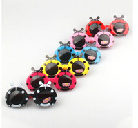 Wholesale Ladybird Kids - Children Kids Cartoon Beetle Sunglasses ladybird Protection Eyewear Goggles Kids cute Fashion sunglasses Eyeglasses Gift KKA2518