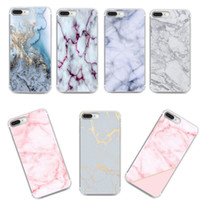 Wholesale Iphone Case Metal Blue - High Quality Marble Slim Case for iPhone X Fashion Protective Cover for iPhone 8 7 Plus
