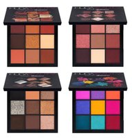 Wholesale Full Size Warmer - New Brand H Beauty Warm Brown Mauve Smokey Electric Obsessions Eyeshadow Palette 9 colors Eye Shadow Makeup Cosmetics Kylie Nice Palette