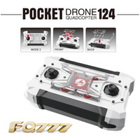 Wholesale uav drone rc - FQ777-124 Pocket Drone 4CH 6Axis Gyro Quadcopter Drones With Switchable Controller One Key To Return RTF UAV RC Helicopter Mini Drones