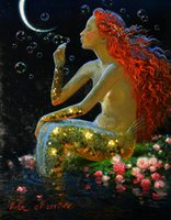 Wholesale Best Modern Classical - Victor Nizovtsev Art HD Prints oil painting Room Christmas Decorations Wall Picture best Christmas gift Mermaid Modern Home Decor NVN41