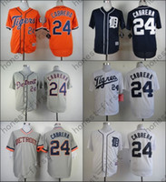 Wholesale Miguel Cabrera Tigers - Miguel Cabrera Jersey 2016 Stitched Cool Base Blue White Grey Orange Detroit Tigers Jerseys