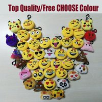 Wholesale Toys For Lovers - Emoji Smile Keychain Yellow QQ Expression Pikachu Elf Pokeball Go Keychains Toys Doll PPCotton 2017 Toy Mobile Bag 6cm For Christmas Gifts