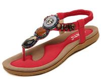 Wholesale Casual Sandles - women's Sandals Summer Flat Sandals Ladies Bohemia Beach Flip Flops Shoes Gladiator Women Shoes Sandles platform Zapatos Mujer Sandalias
