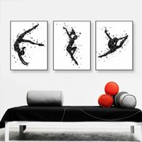 Modern Watercolor Dance Sport Art Print Poster Résumé Beautiful Girl Room Wall Pictures Canvas Painting Home Decor