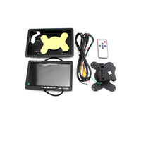 Wholesale Video Display Systems Tft - 7 Inch Color TFT LCD Car Headrest Monitor 2 Video Input Car Rear View Camera Monitor Screen for DVD VCD Display Backup System