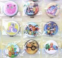 Wholesale New Pin Badges - New Arrival! 5Sheets 240pcs Pikachu The cartoon badge 30mm badge button fashion pin badge Wholesale