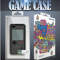 Wholesale Iphone Game Covers - New Retro Game Consoles Phone Back Game case TPU for iPhone 6 7 8 Cover Protective Shell Black White with retail package