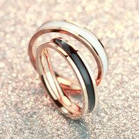 Wholesale Rose Jewelry Rings - XS Fashion Female Titanium Steel Ring Contracted Lovers Buddhist Monastic Discipline Rose Gold Plated Rings Jewelry Wholesale