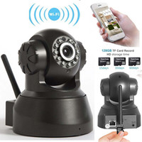 Wholesale outdoor webcam ip wifi resale online - 2017 Wireless IP Camera WIFI Webcam Night Vision UP TO M LED IR Dual Audio Pan Tilt Support IE S61 DHL