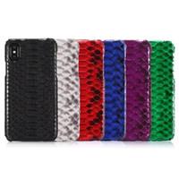 cuir véritable iphone achat en gros de-Housse en cuir de peau de serpent python 2017 rétro de luxe pour iPhone X