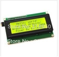 Wholesale Lcd Module Wholesale - Wholesale-LCD module Yellow green screen IIC I2C 2004 5V LCD for arduino provides library files