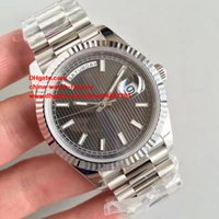 Wholesale President Ii - Best Edition Watch NOOB Factory 40mm Day-Date II 228239 President Index Dial 18kt White Gold Swiss CAL.3255 Movement Automatic Mens Watches
