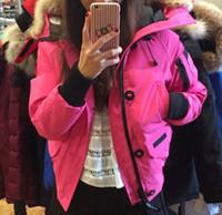 Wholesale Women Down Winter Coat Canada - Hot Sale Winter Down Jacket Hooded Women Chilliwackbomber Warm GO Canada Coat Good Female Outdoor Jackets Parkas XS-XXXL