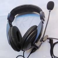 Wholesale Headset Icom - Hot SaleRadio Heavy Duty Headset With Double Earmuff Headset In Helmet PTT VOX Earpiece For Kenwood BAOFENG ICOM HYT TYT KIRIsunWouxun Radio