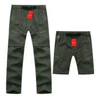 Wholesale Outdoor Pants Trekking - Wholesale-High Quality Removable Men Summer Quick Drying Pants Casual Breathable Cool Trousers Outdoor Sports Hiking Trekking Pants RM068