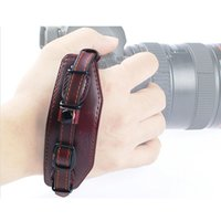 Wholesale Hand Strap For Dslr - New Leather Wrist Hand Camera Strap Band with Metal Base for DSLR Canon Nikon Pentax