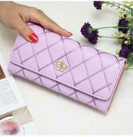 Wholesale Crown Zip - A ladies wallet large zip around wallet bills caught in the Korean version of HASP rhombic love Crown ladies wallet