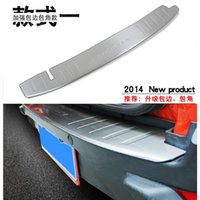 Wholesale Ford Bumper Trim - Stainless Steel Inner Rear Bumper Protector Sill Trunk Tread Plate Trim Fit 2014 For Ford Ecosport Car styling