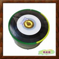 Wholesale Printable Cds - 16 new BANANA Vinyl semi-circle printable CD-R 52X full version   semi-circle vinyl burn a disc DVD blank disc 50PCS LOT