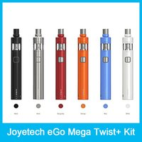 Wholesale Original Joyetech Twist - 100% Original Joyetech eGo Mega Twist+ Kit 2300mah 4ml Cubis Pro Atomizer 2300mah eGo Mega Twist + Battery VW and BYPASS Modes