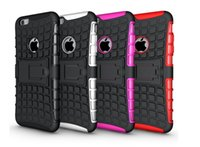 Case Cover all'ingrosso ShockProof ibrida Dual Layer Grip duro Kickstand per iPhone 5 5S SE 6 6S più